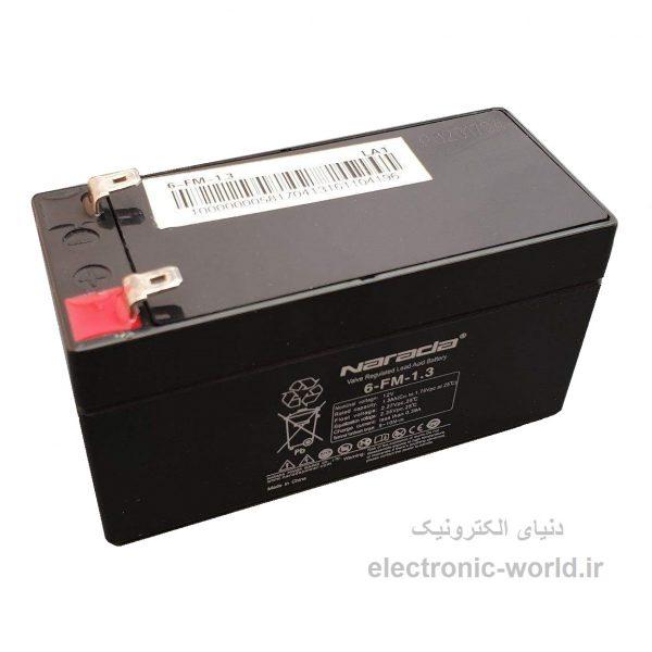 باتری یو پی اس 12 ولت 1.3 آمپر ساعت نارادا